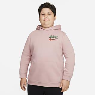 Nike Sportswear Sudadera con gorro sin cierre para niños talla grande (talla amplia)