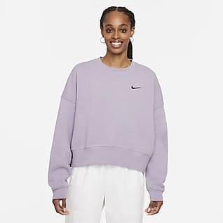 Nike Sportswear Damska krótka bluza z dzianiny