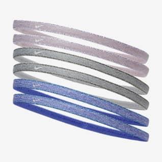 Nike Swoosh Sport Λαστιχάκια μαλλιών με μεταλλιζέ όψη (έξι τεμάχια)