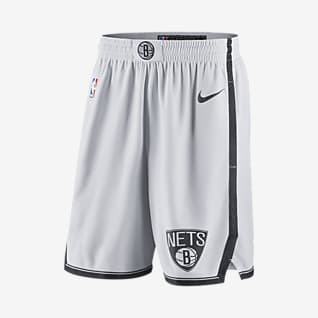 Brooklyn Nets Shorts Nike NBA Swingman para hombre