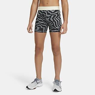 Nike Pro Шорты с принтом для девочек школьного возраста 8 см