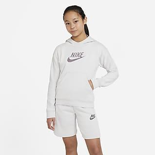 Nike Sportswear Sudadera con capucha sin cierre para niños talla grande