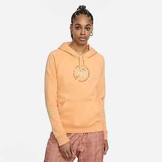 Nike Sportswear Sudadera con capucha sin cierre de tejido Fleece para mujer