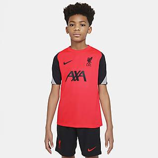 Λίβερπουλ Strike Κοντομάνικη ποδοσφαιρική μπλούζα για μεγάλα παιδιά