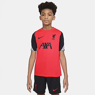 Liverpool FC Strike Camiseta de fútbol de manga corta para niños talla grande