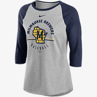 Nike Encircled (MLB Milwaukee Brewers) Women's 3/4-Sleeve T-Shirt