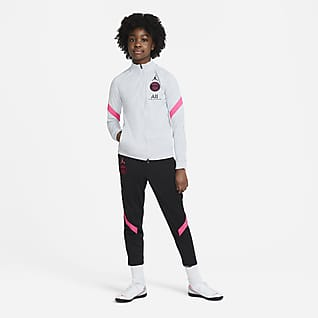 Paris Saint-Germain Strike Older Kids' Knit Football Tracksuit