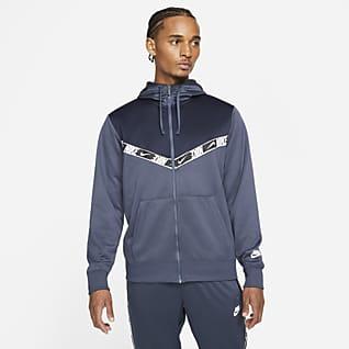 Nike Sportswear Ανδρική μπλούζα με κουκούλα και φερμουάρ σε όλο το μήκος