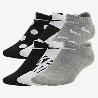 Nike Everyday Big Kids' Lightweight Graphic No-Show Socks (6 Pairs)