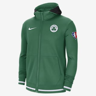 Boston Celtics Nike Showtime Nike Dri-FIT NBA Tam Boy Fermuarlı Erkek Kapüşonlu Üstü