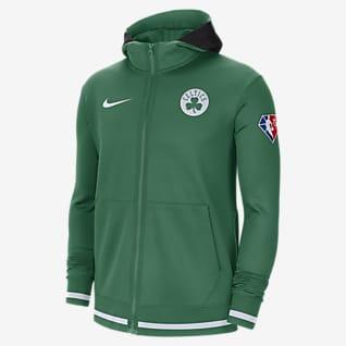 Boston Celtics Nike Showtime Nike NBA-hoodie met rits en Dri-FIT voor heren