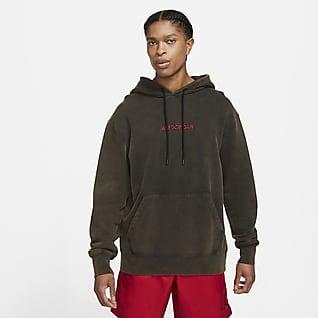 Jordan AJ5 Hoodie pullover de lã cardada com grafismo para homem