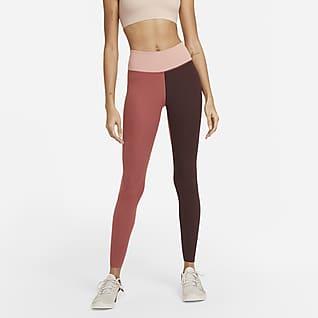 Nike One Luxe Leggings med mellemhøj talje i rib til kvinder