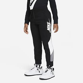Nike Pantalones de entrenamiento de French Terry para niños talla pequeña