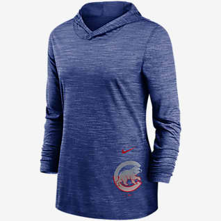 Nike Dri-FIT Split Legend (MLB Chicago Cubs) Women's Long-Sleeve Hooded Training Top