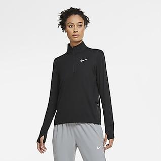 Nike Løpeoverdel med brystglidelås til dame