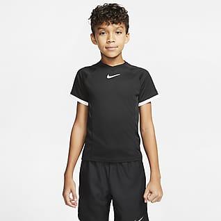 NikeCourt Dri-FIT Kurzarm-Tennisoberteil für ältere Kinder (Jungen)