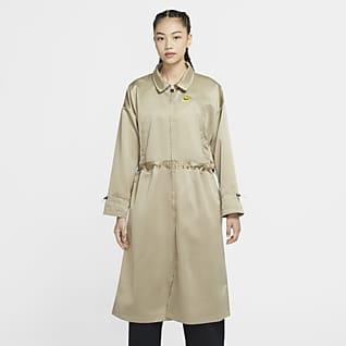 Nike Sportswear Icon Clash เสื้อแจ็คเก็ตคลุมยาวผ้าซาตินผู้หญิง