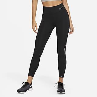 Nike Epic Faster Женские слегка укороченные беговые леггинсы со средней посадкой
