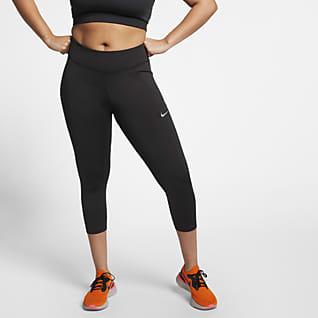 Nike Fast Γυναικείο κολάν crop μεσαίου ύψους για τρέξιμο (μεγάλα μεγέθη)