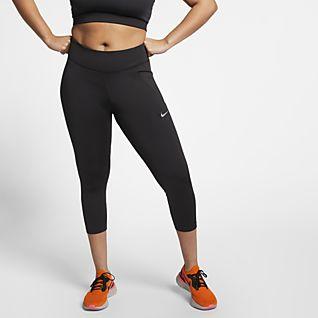 Nike Fast Damskie krótkie legginsy do biegania (duże rozmiary)