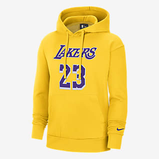 Lakers Essential Nike NBA Erkek Kapüşonlu Üstü