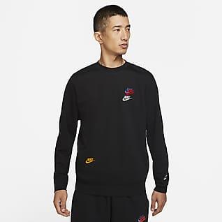Nike Sportswear Essentials+ เสื้อคอกลมผ้าเฟรนช์เทรีผู้ชาย