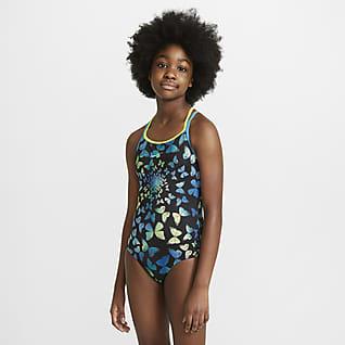 Nike Big Kids' (Girls') T-Back 1-Piece Swimsuit