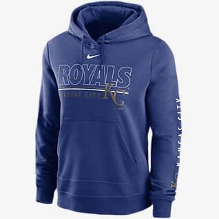 Nike Outline Club (MLB Kansas City Royals) Women's Pullover Hoodie