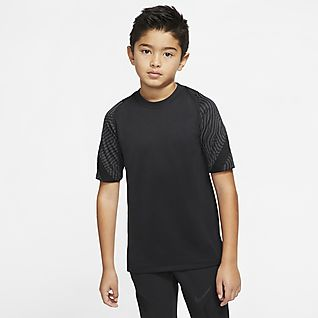 Nike Breathe Strike Rövid ujjú futballfelső nagyobb gyerekeknek