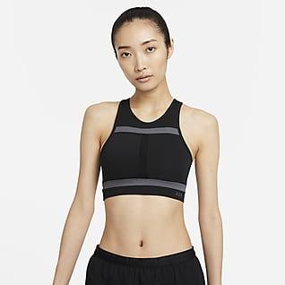 Nike Dri-FIT Swoosh Run Division 女子中强度支撑一片式衬垫运动内衣
