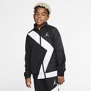 Jordan Wings Hosszú cipzáras kabát nagyobb gyerekeknek (fiúknak)