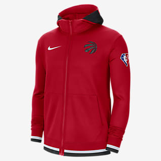 Toronto Raptors Nike Showtime Nike Dri-FIT NBA Tam Boy Fermuarlı Erkek Kapüşonlu Üstü
