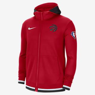 Toronto Raptors Nike Showtime Nike Dri-FIT NBA-hættetrøje med lynlås til mænd