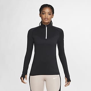 Nike Run Division Haut de running en laine à demi-zip pour Femme