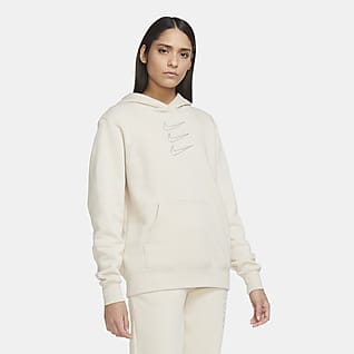 Nike Sportswear Γυναικεία μπλούζα με κουκούλα και στρας