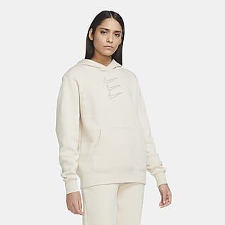 Nike Sportswear Huvtröja med strassdetaljer för kvinnor