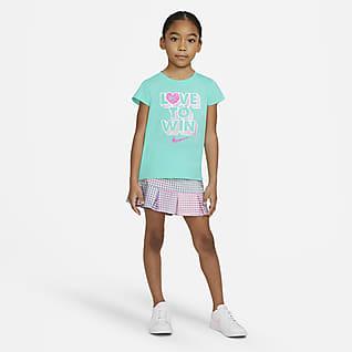 Nike Conjunto de playera y falda para niña talla pequeña