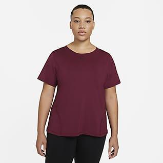 Nike Pro Γυναικεία μπλούζα από διχτυωτό υλικό (μεγάλα μεγέθη)