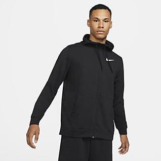 Nike Dri-FIT Hoodie de treino com fecho completo para homem