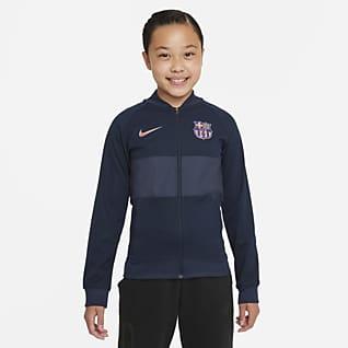 FC Barcelona Großes Fußball Track-Jacket mit durchgehendem Reißverschluss für Kinder
