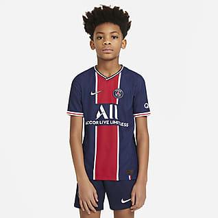 Local Vapor Match del Paris Saint-Germain 2020/21 Camiseta de fútbol para niños talla grande