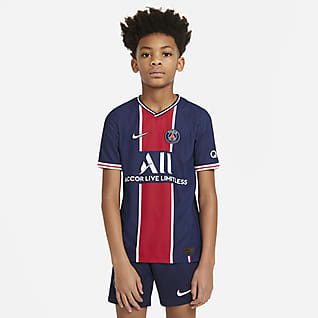 Paris Saint-Germain 2020/21 Vapor Match Home Older Kids' Football Shirt