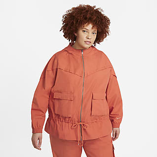 Nike Sportswear Icon Clash Damesjack (grote maten)