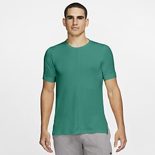 Nike Yoga Dri-FIT Kortærmet overdel til mænd