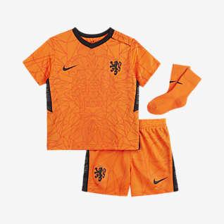Домашняя форма сборной Нидерландов 2020 Футбольный комплект для малышей