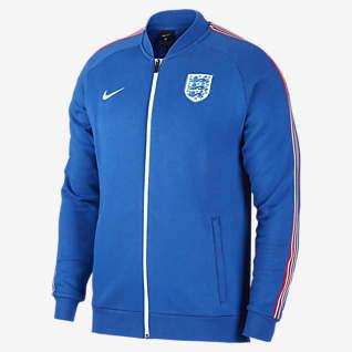 Angleterre Veste de survêtement de football en tissu Fleece pour Homme