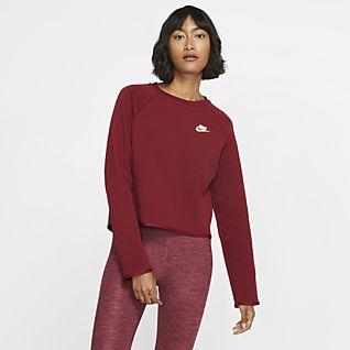 Nike Sportswear Tech Fleece Trøje med rund hals til kvinder