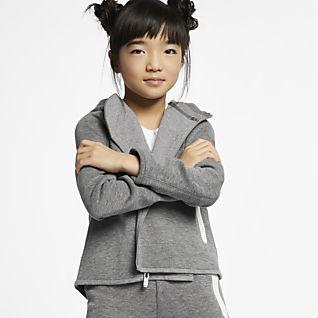 Nike Sportswear Tech Fleece Bluza z kapturem i zamkiem na całej długości dla małych dzieci