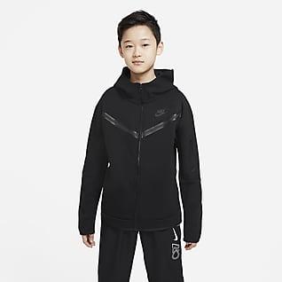 Nike Sportswear Tech Fleece เสื้อมีฮู้ดซิปยาวเด็กโต (ชาย)